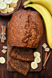 Banana bread, top view Stock Images