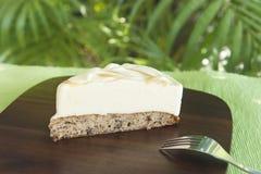 Banana Bread and Vanillia Ice Cream Cake Stock Photo