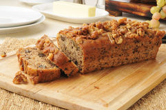 Banana bread with walnuts Stock Images