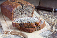 Banana bread  on the kitchen board Royalty Free Stock Photography