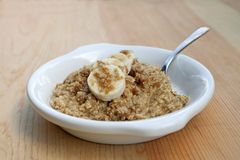Banana and brown sugar oatmeal Stock Image