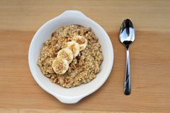 Banana and brown sugar oatmeal Royalty Free Stock Photo