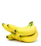 An banana bunch. Banana isolated with white background Stock Images
