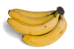 Banana Bunch Isolated Stock Image