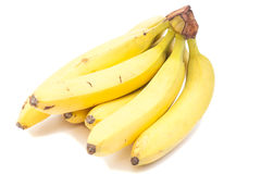Banana bunch isolated Royalty Free Stock Images