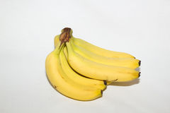 Banana bunch isolated on white. Royalty Free Stock Photo