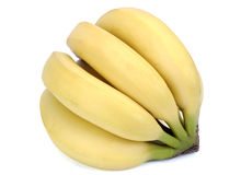 Banana Bunch Isolated On White Royalty Free Stock Image