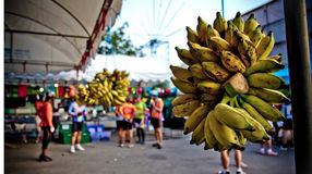 Banana bunch. In ratchaburi thailand Royalty Free Stock Image