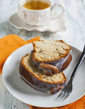 Banana Bundt Cake with pecans Royalty Free Stock Photography