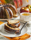 Banana Bundt Cake with pecans Royalty Free Stock Photo