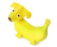 Banana - cão imagem de stock royalty free