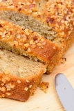 Banana cake bread Stock Image
