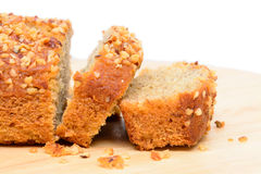Banana cake bread Royalty Free Stock Photos