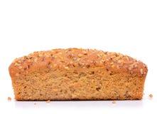 Banana cake bread isolated Royalty Free Stock Photo
