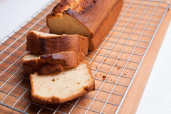 Banana Cake Bread Loaf Stock Photo