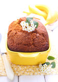 Banana cake, bread Stock Images