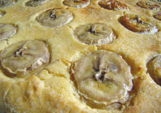 Banana cake close up Stock Photos