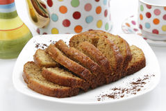 Banana Cake Loaf Stock Images