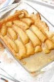 Banana and caramel sauce tart Stock Images