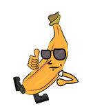 Banana cartoon character Royalty Free Stock Images