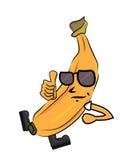 Banana cartoon character Royalty Free Stock Images