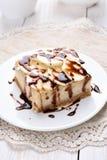 Banana cheese cake, fruit dessert Stock Photo