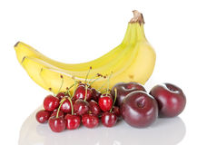Banana Cherry Plum Royalty Free Stock Photo
