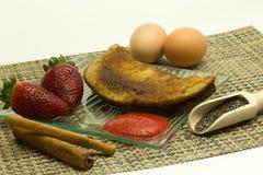 Banana-Chia-Pancake-10 Fotografia de Stock Royalty Free