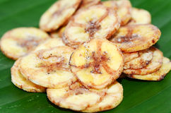 Banana chips. Royalty Free Stock Images