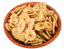 Banana chips royalty free stock photo