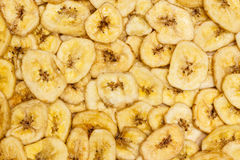 Banana chips for background Royalty Free Stock Images