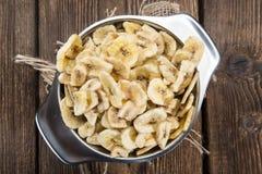 Banana Chips (close-up shot) Stock Photography