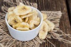 Banana Chips (close-up shot) Stock Images
