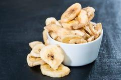 Banana Chips (close-up shot) Royalty Free Stock Photos