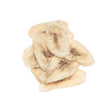 Banana chips. Isolated on white background Royalty Free Stock Photography