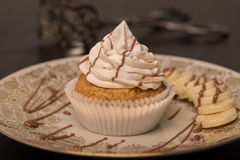Banana Choclate Cupcake (Vegan) Stock Images