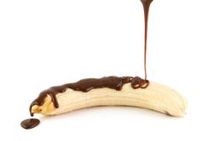 Banana and chocolate Stock Images