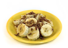 Banana and chocolate Stock Photos