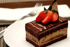 Banana chocolate cake Royalty Free Stock Images