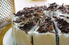 Banana Chocolate cake Stock Photos