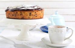 Banana chocolate cake Stock Images