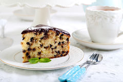 Banana chocolate cake Stock Photography
