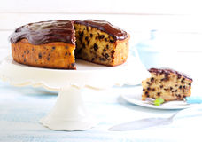 Banana chocolate cake Royalty Free Stock Images