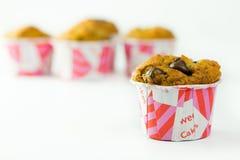 Banana chocolate chip muffin Stock Photography