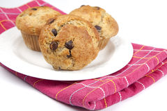 Banana Chocolate Chip Muffins Royalty Free Stock Photo