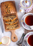 Banana and chocolate chips bread Royalty Free Stock Photography