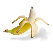 The banana cleared of a peel Royalty Free Stock Photography