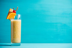 Banana cocktail with fruit decoration Stock Photography