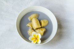 Banana in coconut milk Royalty Free Stock Photos
