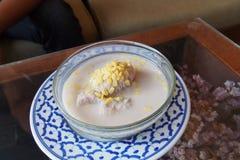 Banana in coconut milk Stock Photos